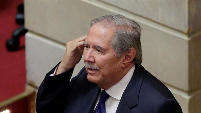 COLOMBIA. Ministro de defensa, Guillermo Botero, asiste este lunes a la plenaria de la Cámara de Representantes en Bogotá