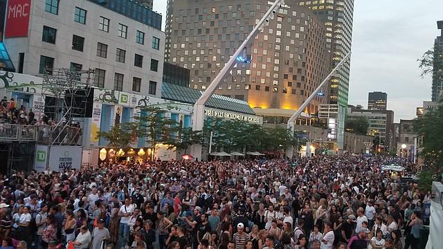 Audiencia del Festival Internacional de Jazz de Montreal