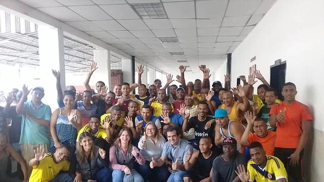LIBERTAD. Los ciudadanos detenidos fueron llevados a la frontera colombo-venezolana en avión desde Caracas.