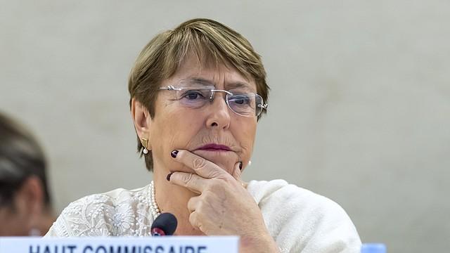 ONU. Michelle Bachelet, alta comisionada de las Naciones Unidas para los derechos humanos. Foto Efe
