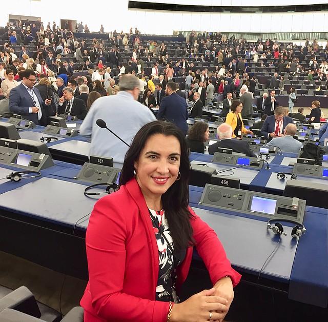 PROPUESTAS. Mónica Silvana González apuesta por establecer un salario mínimo común en Europa, así como una agenda feminista y ecologista.