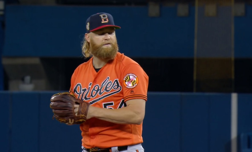 Andrew Cashner / Captura de MLB Network