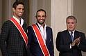 TENIS. Compartieron con el presidente Iván Duque en su arribo a Colombia