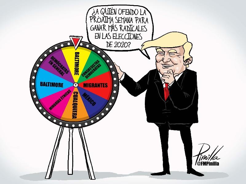 CARICATURA. La rueda de Trump | Por Fernando Pinilla - Twitter @FMPinilla