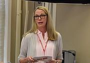 VOLUNTARIOS. La VP de comunicaciones de Cruz Roja, Elizabeth Penniman explicó que hay varias formas de colaborar. FOTO: Tomás Guevara – ETL