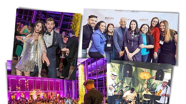Fotos: collage con imágenes del MFA y Amplify Latinx