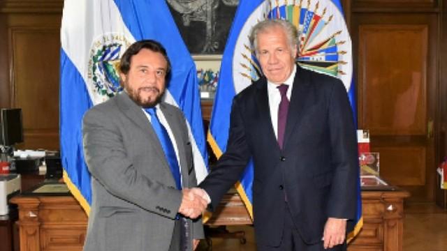 POLÍTICA. Encuentro entre el Vicepresidente de El Salvador y el secretario general de la OEA