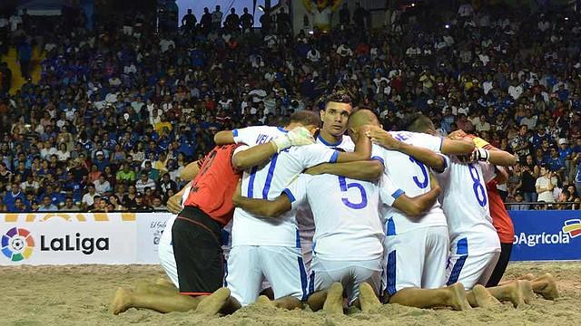 DEPORTE. La selecta playera previo al partido ante Islas Vírgenes. | Foto/Cortesía Presidencia
