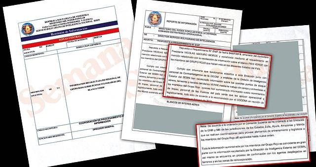 Este es uno de los documentos secretos del Sebin que contiene los detalles de los planes de guerrilleros y el régimen venezolano para atacar a Colombia.