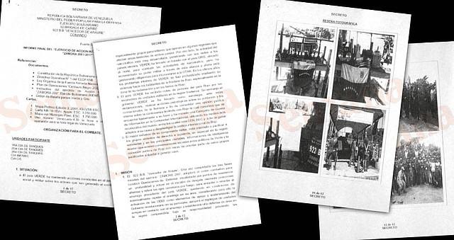 En estos documentos, las fuerzas venezolanas consignaron los detalles de su plan de defensa para una supuesta invasión. La guerrilla es clave.
