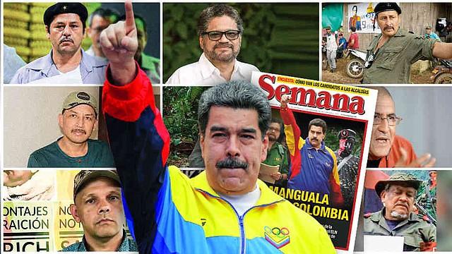 CONFLICTO. El gobernante Nicolás Maduro ordenó a sus Fuerza Armada venezolana no solo no atacar a los guerrilleros, sino prestarles toda la ayuda necesaria. | Foto: Semana.
