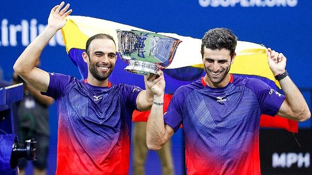 EXITOSOS. Robert Farah y Juan Sebastián Cabal se coronaron en el dobles masculinos del US Open