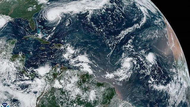 NATURALEZA. Para el fin de semana podría pasar por el norte de Puerto Rico y República Dominicana y dirigirse la próxima semana hacia el este de Bahamas.