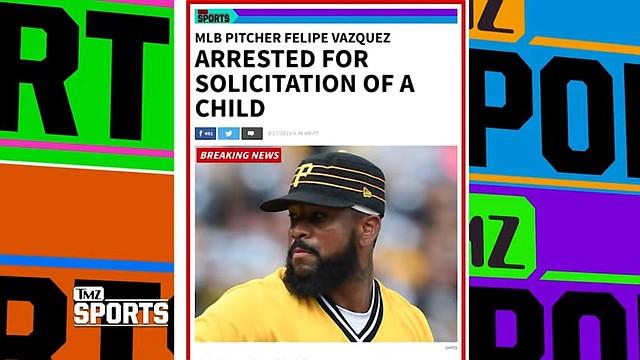 Felipe Vázquez es noticia y centro de un escándalo / Captura de TMZ Sports