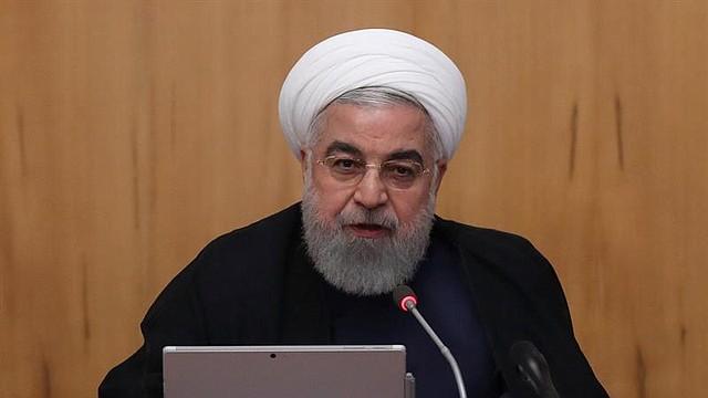 MUNDO. Una foto de la oficina presidencial muestra al presidente iraní Hassan Rouhani hablando durante la reunión del gabinete en Teherán, Irán.