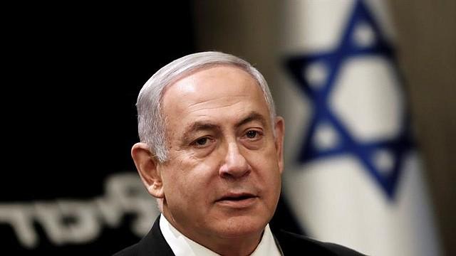 MUNDO. Benjamin Netanyahu, Primer Ministro israelí y Presidente del Partido Likud, asiste a una reunión de los MK (miembros del Knesset) del partido Likud tras los primeros resultados oficiales de las elecciones generales en Jerusalén, Israel.