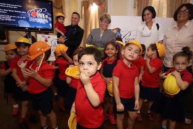 PUERTO RICO. El logotipo del proyecto fue diseñado por niños participantes del centro educativo HeadStart ubicado en las Parcelas Amalia Marín en la Playa de Ponce / Foto: Cortesía Municipio Autónomo de Ponce
