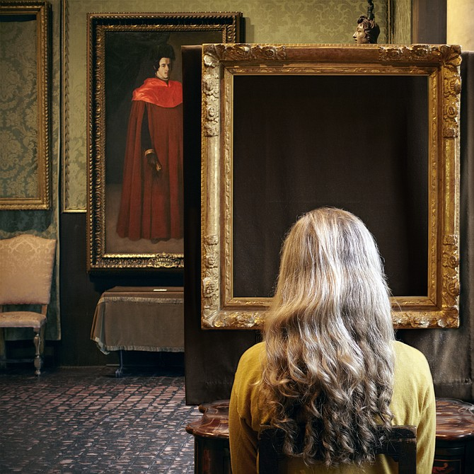 Sophie Calle, What Do You See? (Vermeer, The Concert), 2013, Two lambda prints, two lithographs on Rives BFK paper.