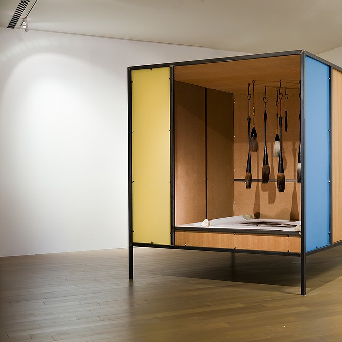 Su-Mei Tse, Bleeding Tools, 2009. Steel, wood, paper, brushes. Photo: Jean-Lou Majerus