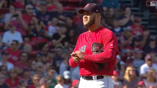 Eduardo Rodríguez en su última salida de 2019 / Captura MLB Network
