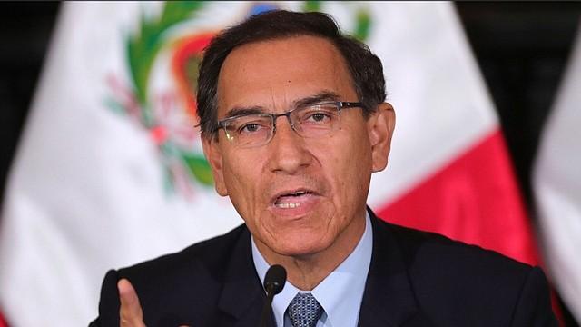 HISTÓRICO. El presidente de Perú, Martín Vizcarra, disolvió el Congreso el lunes 30 de septiembre / EFE