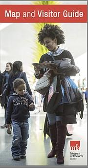 El mapa del MFA que se reparte a los visitantes refleja una mujer y un niño afroamericanos, en representación de la diversidad e inclusión.