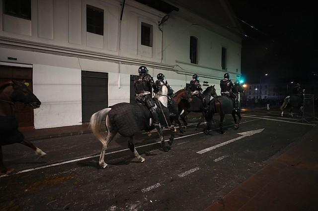 CONFLICTO. Indígenas llegaron el lunes 7 de octubre a Quito para protestar contra las medias adoptadas por Lenín Moreno. | Foto: José Jacome.