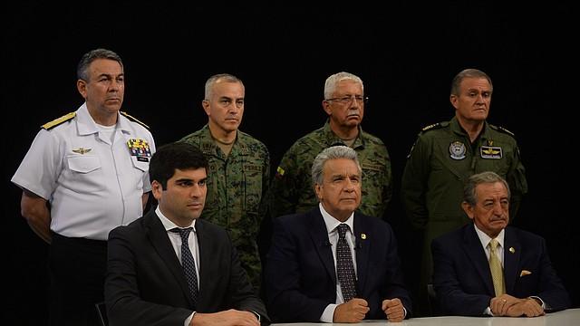 GUAYAQUIL. El presidente Lenín Moreno se dirigió el lunes a Ecuador y pidió volver a la calma. | Foto: Efe