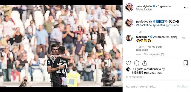 Foto subida por Dybala el 28 de septiembre a las redes sociales. | Foto: captura de pantalla de Instagram.