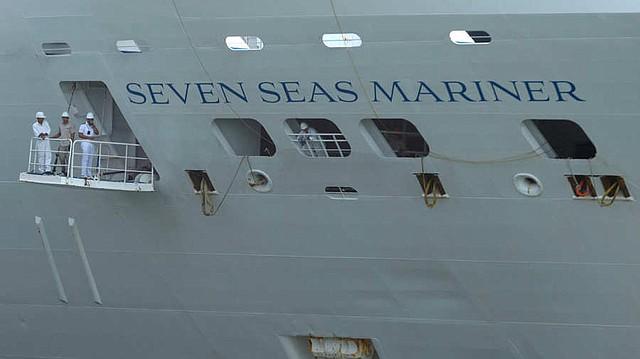 El Seven Seas Mariner es el penúltimo barco de la temporada de cruceros 2019 en El Salvador. Foto EDH/ Jessica Orellana