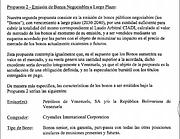 VENEZUELA. Segunda propuesta de Crystallex / Cortesía Maibort Petit