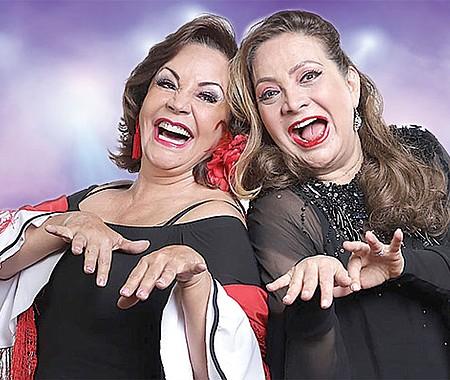 JUNTAS. Las reconocidas actrices venezolanas Flor Nuñez y Elba Escobar ofrecerán hilarante puesta en escena el 26 de octubre en hotel de Round Rock.