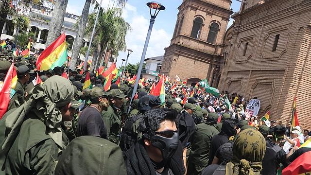 PROTESTA. El alcalde de la ciudad de Sucre, Iván Arciénega, renunció mediante una carta dirigida a la ciudad.