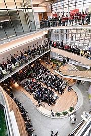 MODERNO. Estas modernas instalaciones de unos 220 mil pies cuadrados ofrecen espacios académicos de vanguardia / Cortesía USG