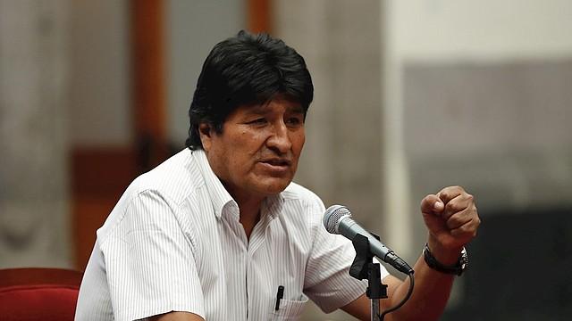 DECLARACIÓN. Este miércoles, desde el Museo de la Ciudad en la capital mexicana, Evo Morales defendió su triunfo electoral del 20 de octubre. | Foto: Efe/José Méndez.