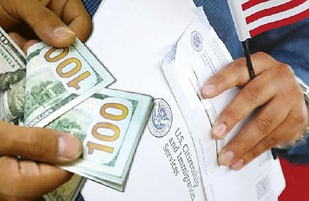 COSTOS REALES. USCIS está en un periodo de examinación de sus gastos entrantes y salientes para realizar ajustes basados en ese análisis, que son permitidos por ley.