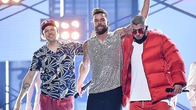 "MÚSICA. Ricky Martin, Bad Bunny y Residente unieron su talento para grabar ""Cántalo"". | Foto: Instagram @sonymusiclatin"