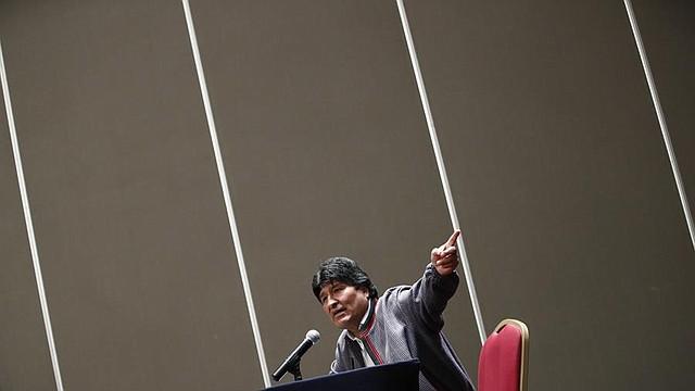 RUEDA DE PRENSA. El expresidente de Bolivia, Evo Morales, se encuentra en Ciudad de México en condición de asilado. | Foto: Efe/José Méndez.