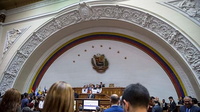 CARACAS. Los partidos PJ y VP notificaron medidas -entre ellas la expulsión- en contra de los diputados implicados que hacen vida política en sus filas. | Foto: Efe.