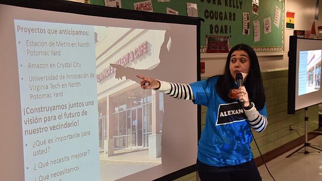 """APOYO. """"Estamos aquí para encontrar soluciones y que no se tengan que ir"""", comentó Natali González, vocera del gobierno de la ciudad de Alexandria."""