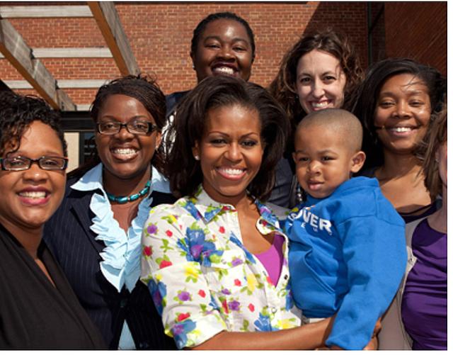 PRESIDENCIAL. La primera dama Michelle Obama visita KIPP DC Douglass Campus en 2012