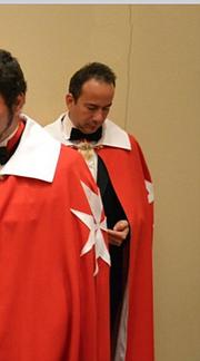 González Testino en la 29a Ceremonia de Investidura de los Caballeros de Malta, el 11 de febrero de 2017 en Florida. | Foto: cortesía Maibort Petit.