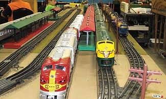 Exhibición de ferrocarriles miniatura.