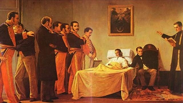 HISTORIA. Muerte de Simón Bolívar