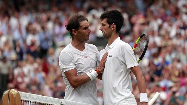 LUCHA. Djokovic y Nadal se vieron las caras en 33 ocasiones durante el lapso.