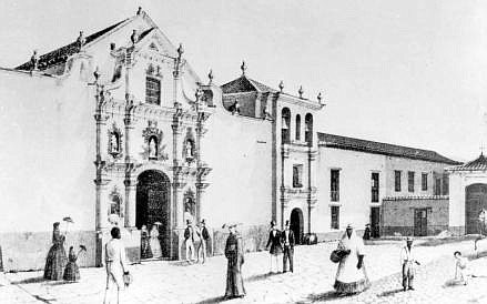 HISTORIA. Federico Lessmann, Templo de San Francisco, Caracas, 1851, Colección siglo XIX / Crédito: Archivo Audiovisual de la Biblioteca Nacional