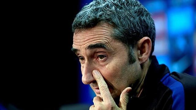 FÚTBOL. Valverde estuvo dos años y ocho meses al frente del Barcelona / EFE