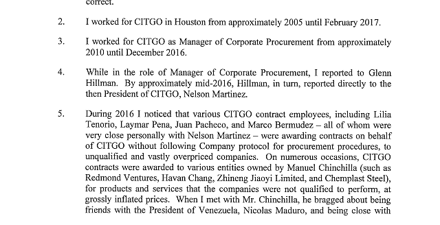 DOCUMENTO. Informe de CITGO