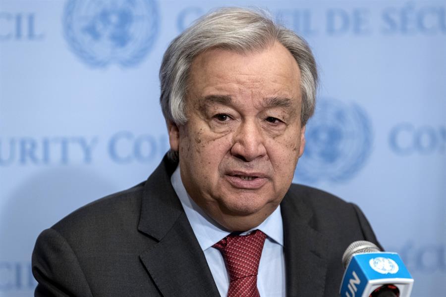 MUNDO. El secretario general de la ONU, António Guterres, ve como preocupante la situación en Irán.   Foto: Efe.