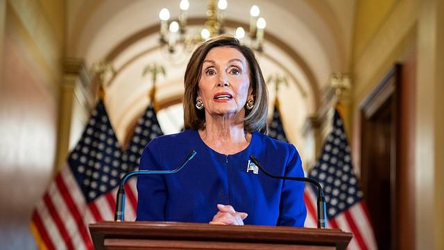 """ANUNCIO. Pelosi nombró como """"gestores"""" a siete miembros de la Cámara de Representantes, todos son demócratas."""